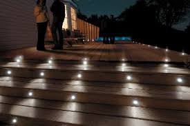 outdoor stair lighting lounge. People Recessed Deck Lighting Wood Stairs Floor White Wall House Black Tree Silhouette Lounge Chairs Uplight Decoration Lamp Outdoor Stair