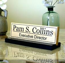 office desk name plates uk engraved glass plate real wood home furniture india