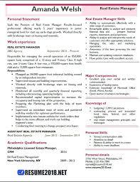 Real Estate Manager Resume Template Kubikula Net