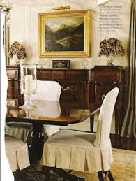 inverted pleat skirt slipcover design from belclaire house find this pin and more on formal dining rooms