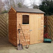 image to enlarge 6 x 4 walton s reverse overlap apex wooden shed