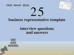 Interview Questions Template Adorable Top 48 Business Representative Template Interview Questions And Answe