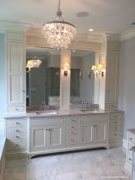 Double Vanity Cabinets Bathroom Master Bath Double Vanity With Linen Cabinet Bathrooms