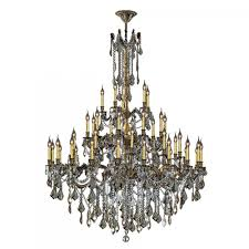 windsor collection 45 light antique bronze finish and golden teak crystal chandelier 54 d x