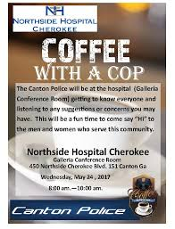 Coffee With A Cop Flyer Coffee With A Cop Cherokee County Chamber Of Commerce