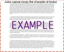 julius caesar essay the character of brutus custom paper academic  julius caesar essay the character of brutus