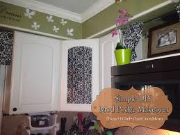 easy way to get color into your kitchen and hide those glass door cabinets diy