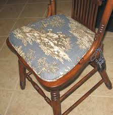 classic little kitchen chair cushions in blue color trees printed pattern  suitable design for classic brown