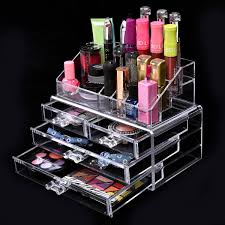 4 drawers makeup case storage holder box clear acrylic cosmetic organizer table health beauty