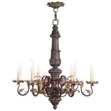epic wood and wrought iron chandeliers antique carved wood and wrought iron italian baroque