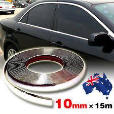 au 15m 10mm chrome moulding trim strip car door edge scratch protector cover new