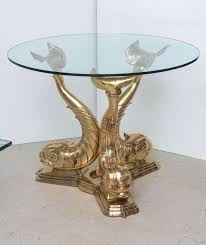 brass dolphin center table at 1stdibs excellent coffee pictures inspirations with glass