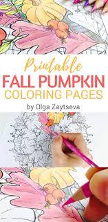Fall Pumpkin Mandala Coloring Page For