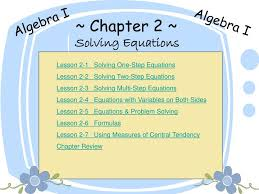 chapter 2 solving equations