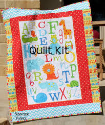 LAST THREE ABC Safari Quilt Kit Panel Baby Toddler Bedding Studio ... & ABC Safari Quilt Kit Panel Baby Toddler by SunnysideFabrics Adamdwight.com