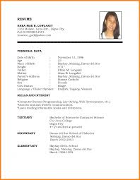Resume And Cover Letter Resume Sample Pdf Sample Resume Example