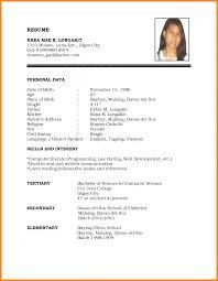 Blank Resume Form Pdf Blank Resume Form 11 Templates Pdf Format