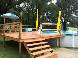 Wood Pool Deck Fabulous Tips To Clean Intex Pool Deck Plans Tedxumkc Decoration
