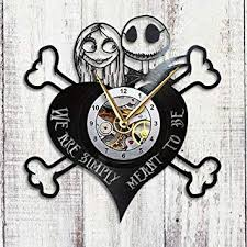Lift up my eyes and smile back at jack and sally smiling from the framed poster hanging on my bedroom wall. Amazon Com Nightmare Before Christmas Clock Jack Skellington Sally Vinyl Record Wall Decor Gift Baby