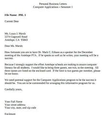 Business Correspondence Letters Examples How To Write A Personal Business Letter To Reach Your Goals
