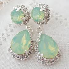 mint green chandelier earrings on wanelo mint green earrings