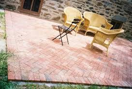 brick paver patio herringbone. Plain Patio View In Gallery Brick Paver Patio DIY From EHow Inside Paver Patio Herringbone