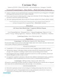 Sample Cosmetology Resume New Cosmetologist Resume Examples Newly Licensed Cosmetology Resume