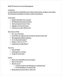 how to make a agenda 17 party agenda examples examples