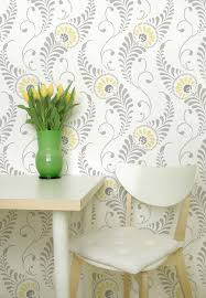 large wall stencils for paintingLarge Wall Stencil Pattern Feathered Damask Allover Stencil
