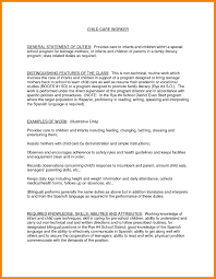 8 Child Caregiver Resume Sample Biodate Format