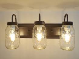 survival mason jar bathroom light fixture vanity new quart trio the lamp goods
