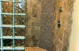 tile shower kits home depot glass block bathroom design medium size curved just one of many