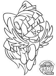 My Little Pony The Movie Coloring Page Songbird Serenade Oog
