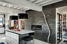 oversized pendant lighting. View In Gallery Sleek Fireplace The Kitchen Oversized Pendant Lighting T