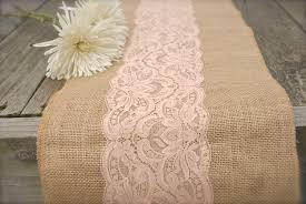 Burlap Round Table Overlays Coral Table Runner Etsy