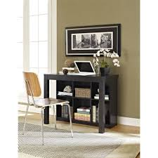 Bookcase Table Ameriwood Home Parsons Desk With Cubbies Black Walmartcom