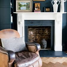 Navy Blue Living Room Navy Blue Living Room With Stone Fire Surround Ideal Home