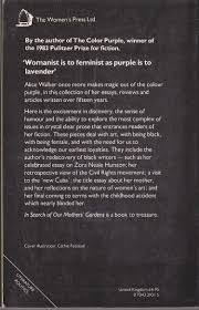 alice walker in search of our mothers gardens womanist prose magnified rear book
