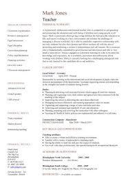 Teaching Jobs Resume Sample Techtrontechnologies Com