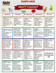 Kids Menu Template Sample Menu For Childcare Lunches Southern New ...