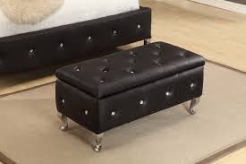 Ottomans For Bedroom Black Storage Ottoman Different Types