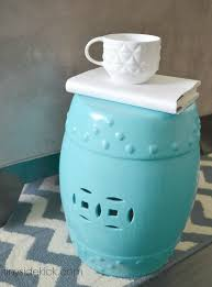 turquoise garden stool. Fine Garden Spray Painted Second Hand Garden Stool Just Like The Expensive Ones Inside Turquoise L