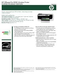 Hp Officejet Pro 8000 Wireless Printer Staples Ecoeasy