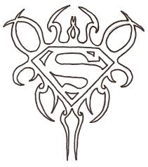 Small Picture Superman Logo Coloring Pages With itgodme