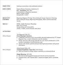 Internship Resume Templates Unique 28 Sample Internship Resume Templates For Free Sample Templates