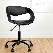 black faux leather adjule office chair annexe rc willey furniture