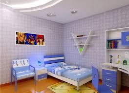 Light Blue Wallpaper Bedroom Blue Childrens Bedroom With White Furniture 3d House