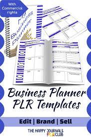 Business Planner Plr Templates The Happy Journals Plr Club