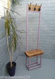 Small Coat Rack Stand Narrow Coat Stand Hallway Bijou Coat Rack With Seat Shoe Storage 78