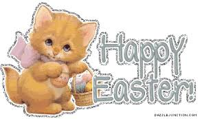 Image result for easter cats gif